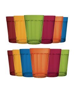 Jogo Copo Americano Colors 190 ml com 12 peças