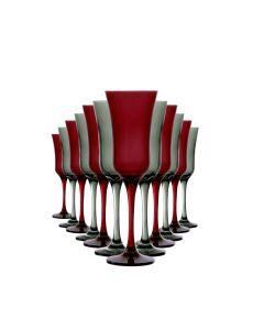 Jogo de Taças Nadir 195ml Vermelho/Cinza com 12 peças
