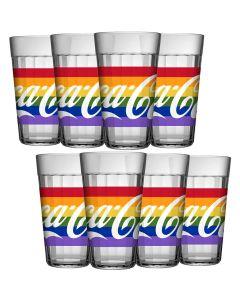 Jogo Copo Americano Coca-Cola Pride 450 ml com 8 peças